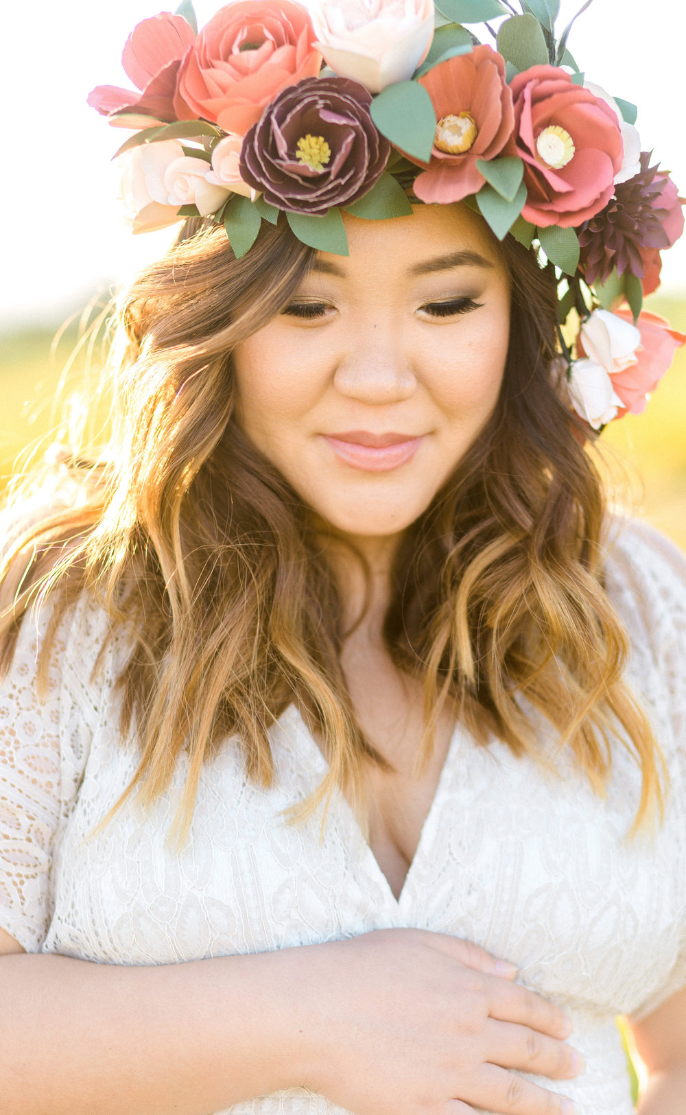 Blog handmade by sara kim of course i had to wear this oversized paper flower crown to represent i sooooo loved the poppy fields and it was the perfect spot for us since i just izmirmasajfo