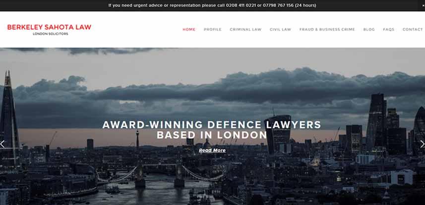 Berkeley Sahota - Legal Website