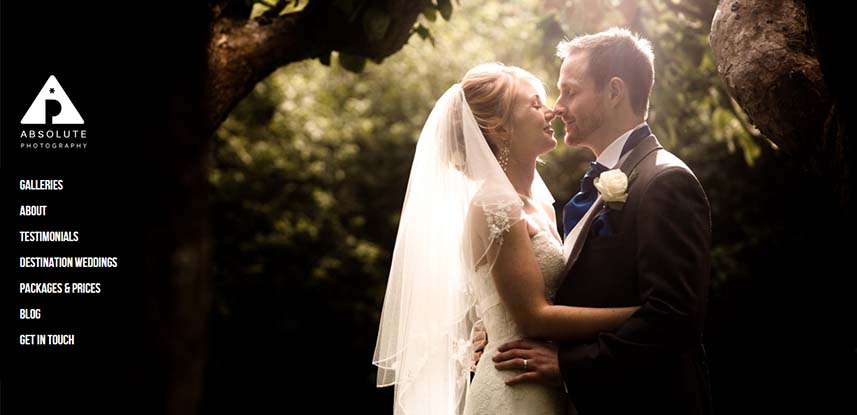 Absolute Wedding Photography Website