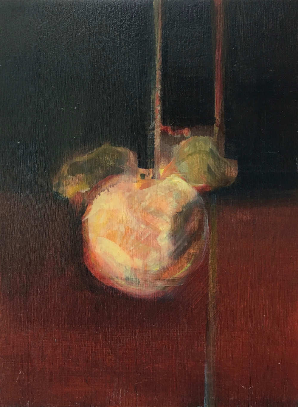 Quince , oil on panel 23x18cm    sold