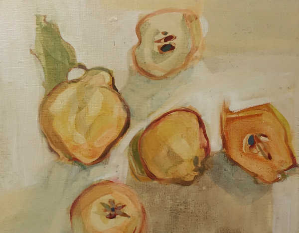 Quinces 2,  oil on panel 18x23cm
