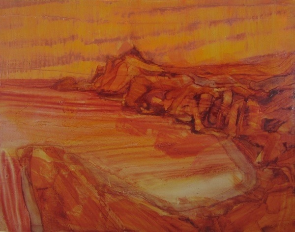 seascape 4,  18x23cm, oil on panel