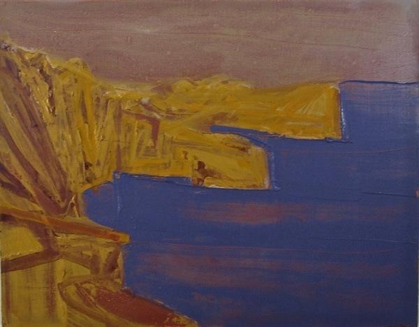 seascape 7,  18  x23  cm, oil on   panel