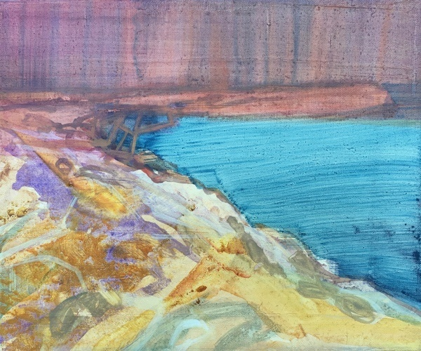 seascape 11,  23x25cm, oil on canvas