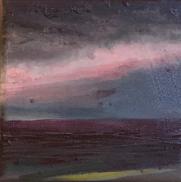 Iceland 1,  15 x15  cm,   oil on canvas