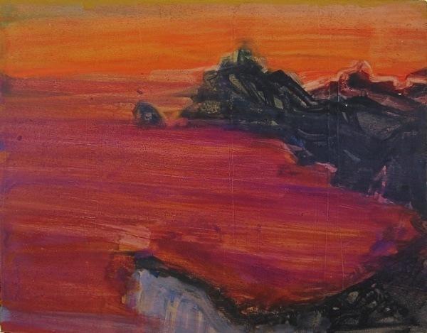seascape 6,  18  x23  cm, oil on   panel