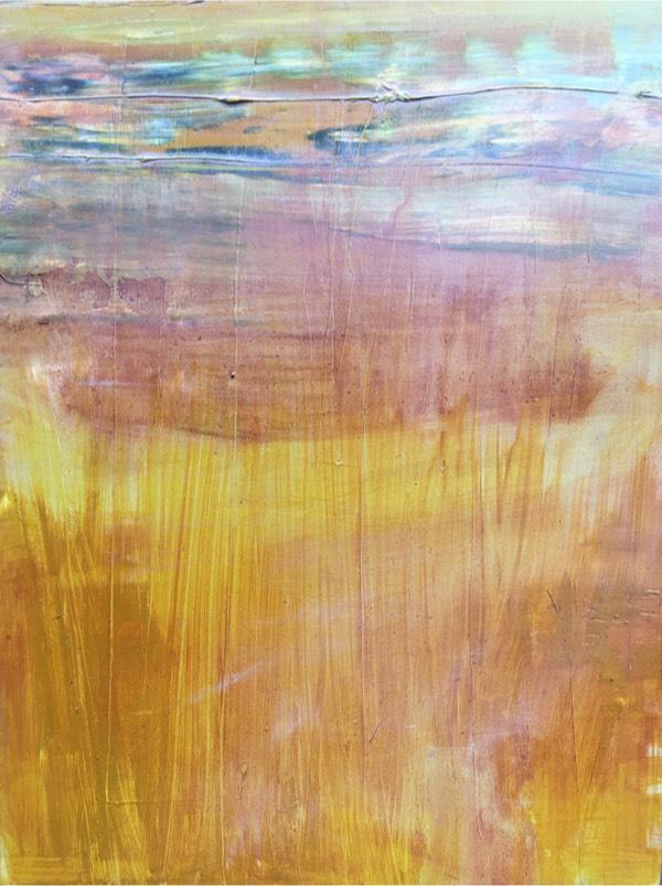 river 13 2017 , oil on board, 23 x 18cm