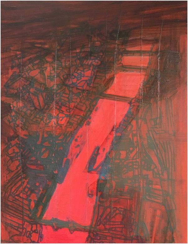 river 19 , oil on panel, 36 x 28cm