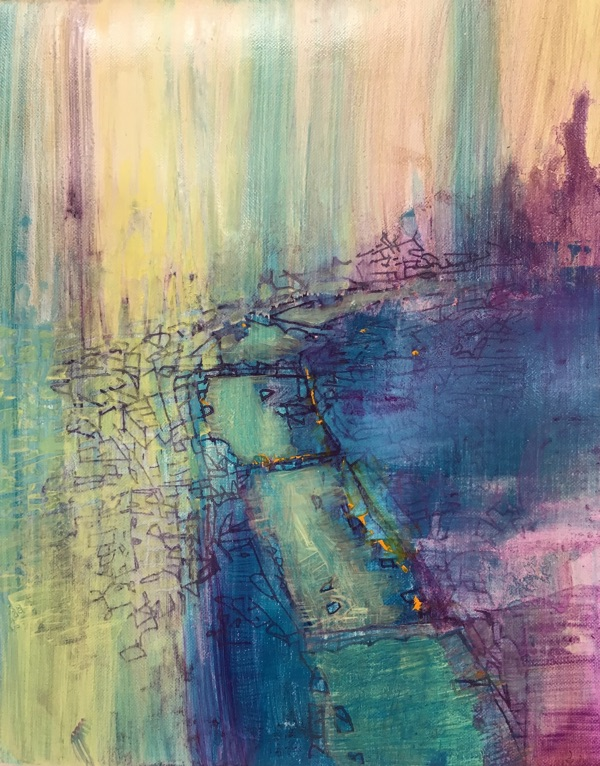 riverscape I , oil on linen, 30 x 20cm  sold