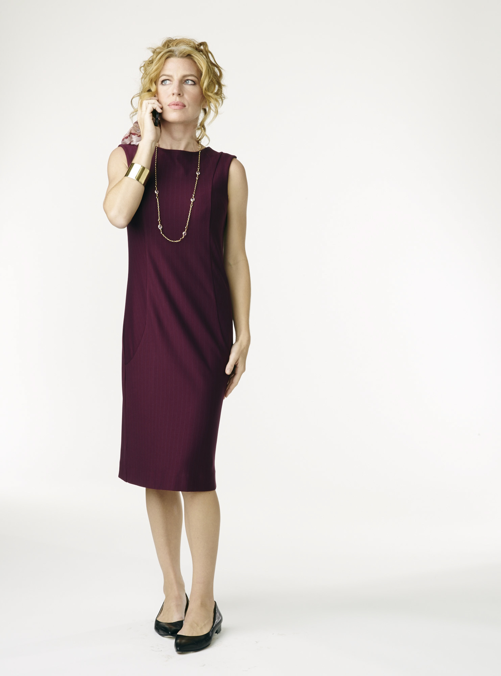 Go-To Dress in marsala