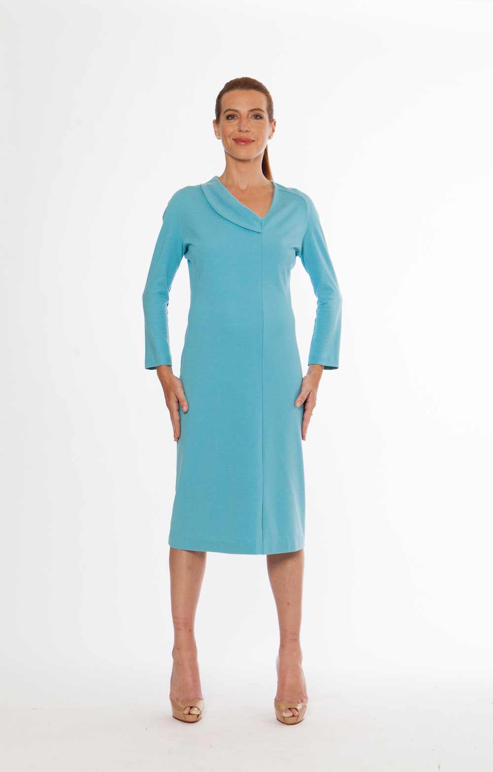 Wave Dress, 7/8th Sleeves