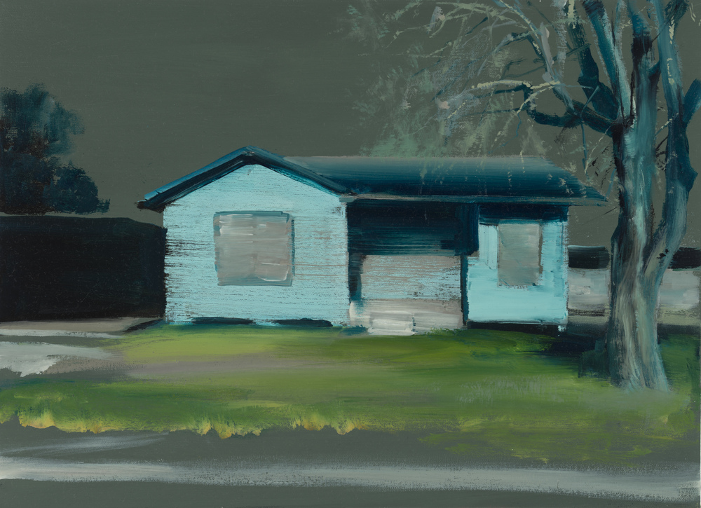 "house study 2   16"" x 22""  oil on canvas  2014"
