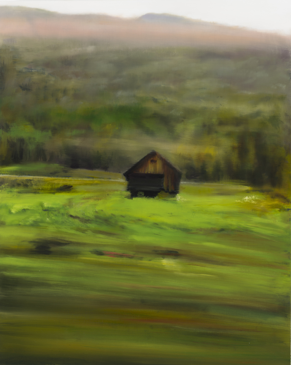 "barn   •  20"" x 16""  oil on canvas  2014"