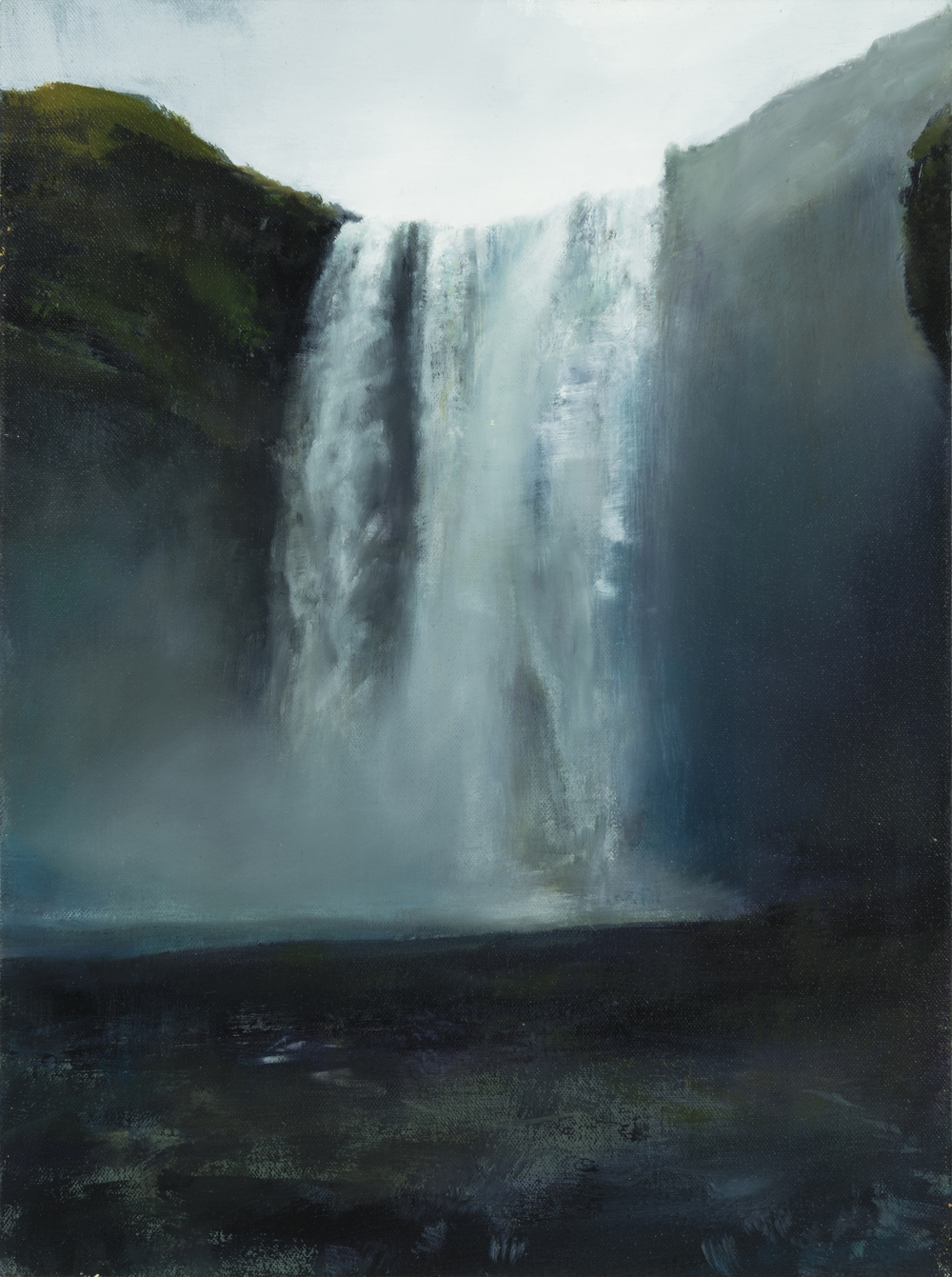 "waterfall   16"" x 12""  oil on canvas  2014"