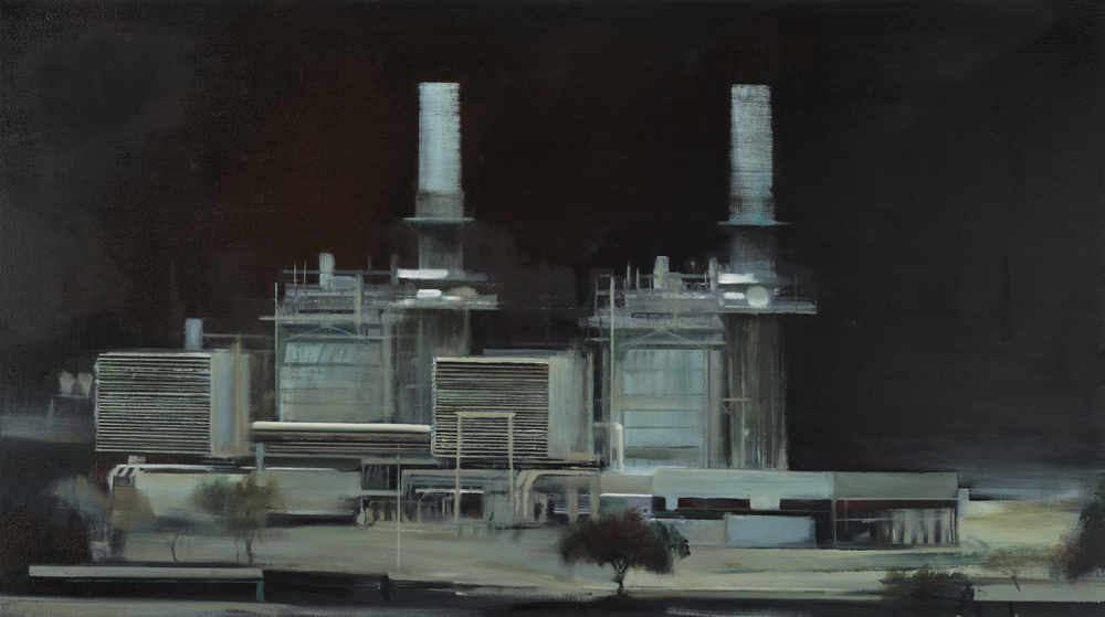 "power (dark)   •  28"" x 50""  oil on canvas  2012"