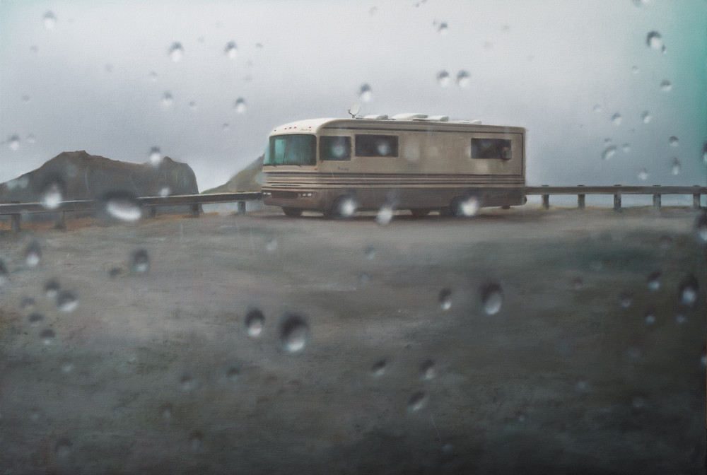 "camper   •  34"" x 50""  oil on canvas  2012"