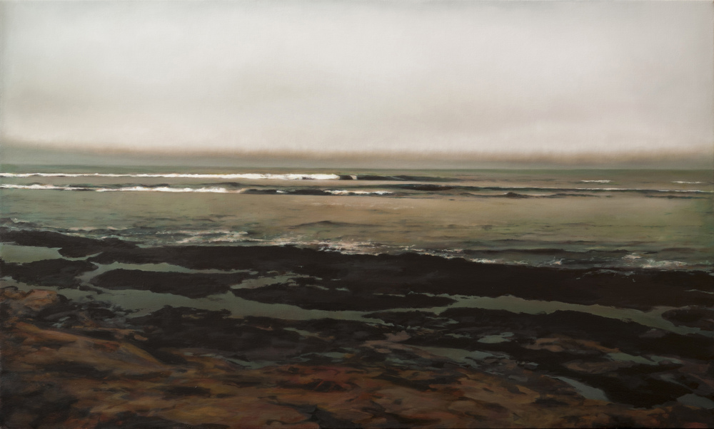 "agate beach   •  36"" x 60""  oil on canvas  2012"