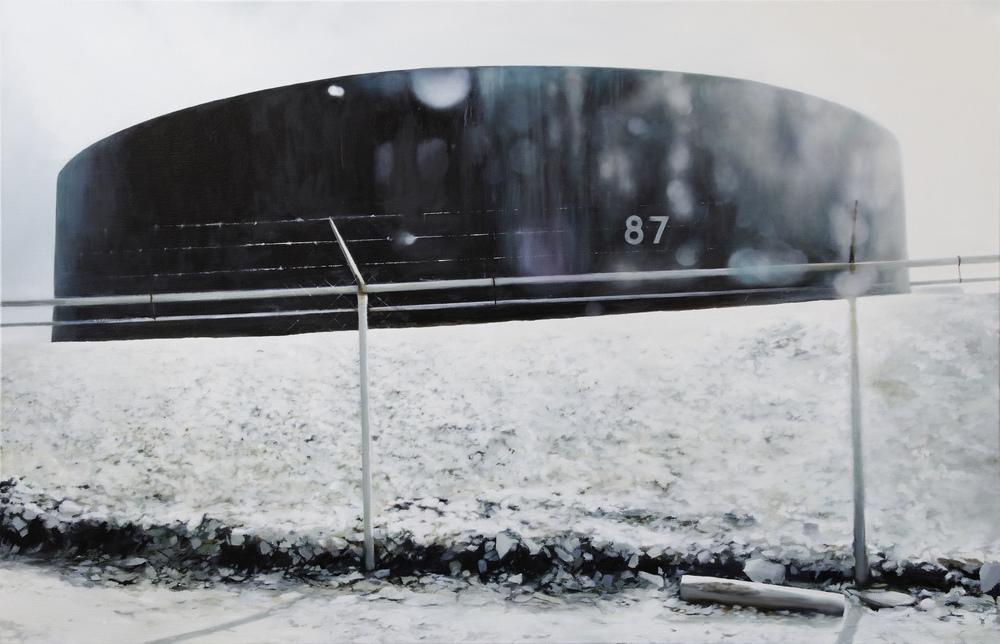 "87  •  48"" x 72""  oil on canvas  2011"