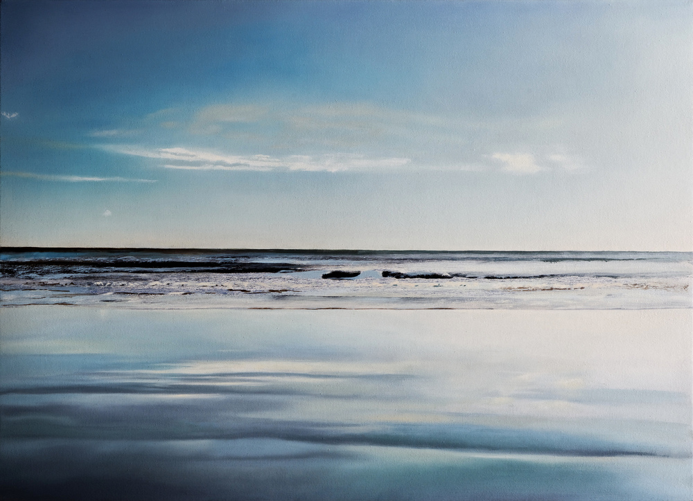 "bolinas seascape   •  21"" x 29""  oil on canvas  2009"