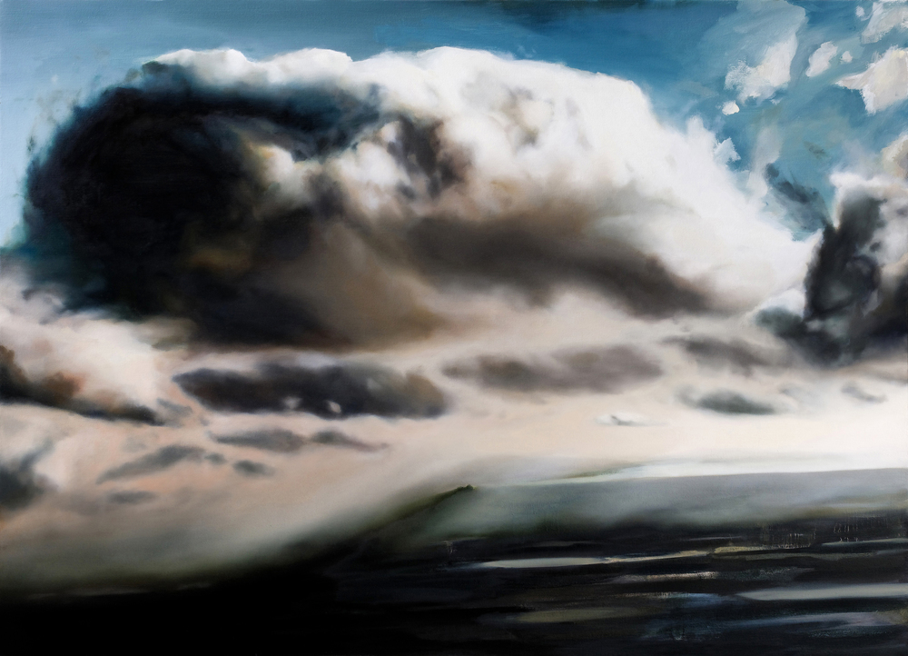 "cloud    •   52"" x 72""  oil on canvas  2009"