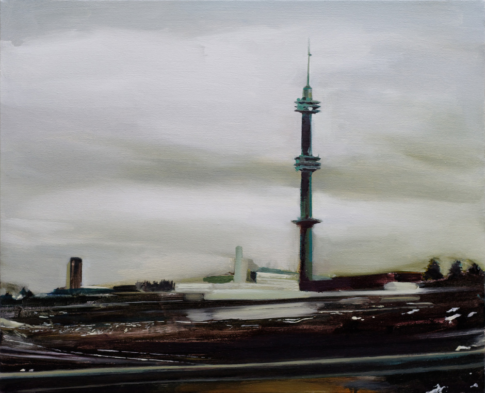 "helsinki tower   26"" x 21""  oil on canvas  2008"