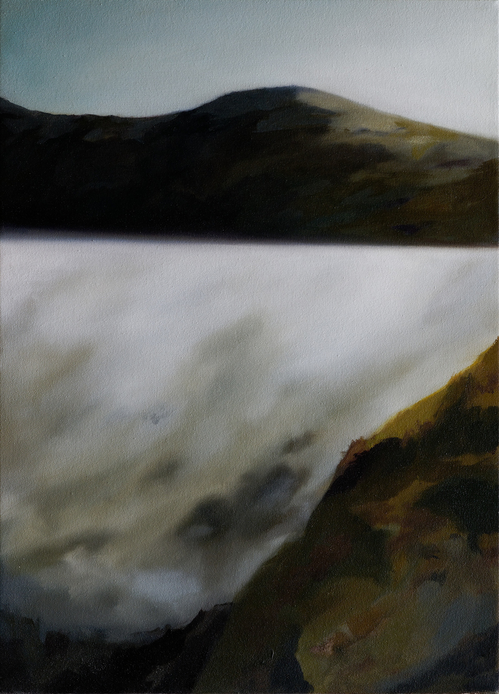 "mount tam fog   25"" x 18""  oil on canvas  2008"