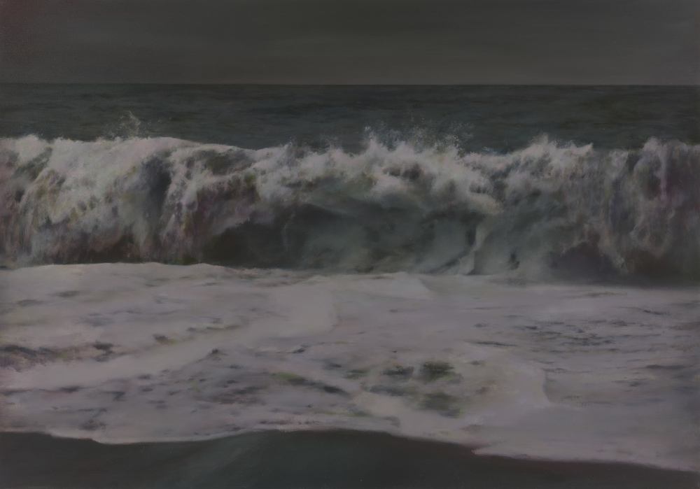 "night wave   •  28"" x 40""  oil on canvas  2015"