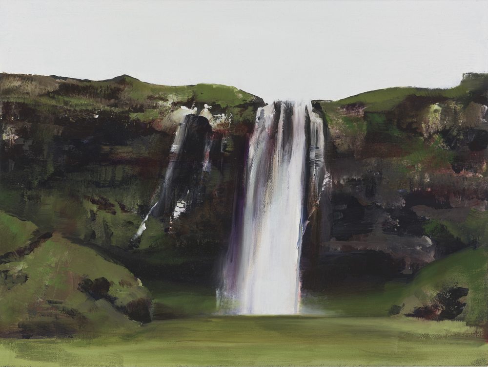 "seljalandfoss study   12"" x 16""  oil on canvas  2015"
