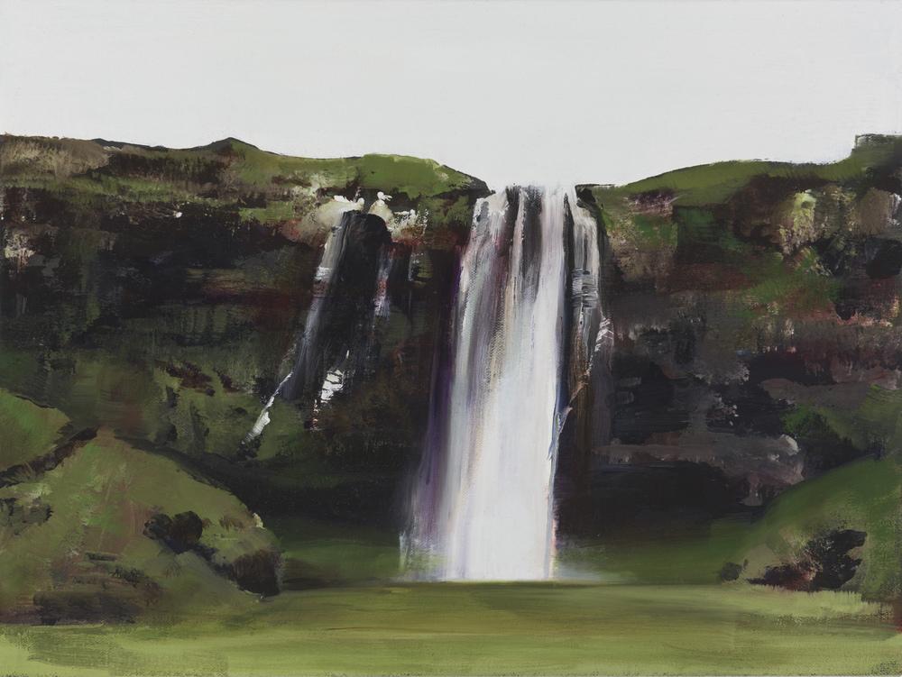 """seljalandfoss study  •  12"""" x 16""""  oil on canvas  2015"""