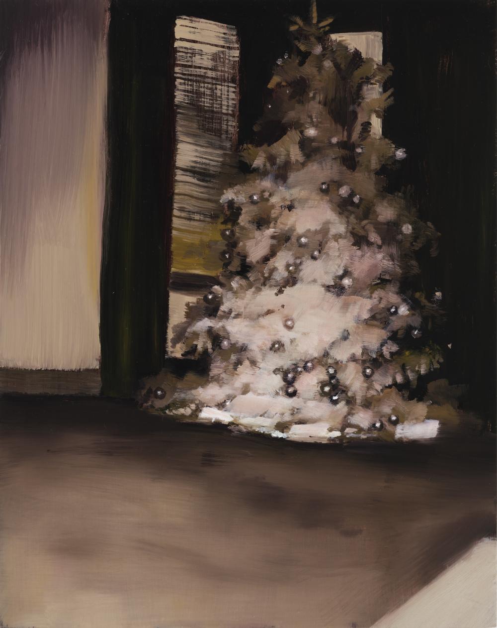 """christmas 2   14"""" x 11""""  oil on panel  2016"""