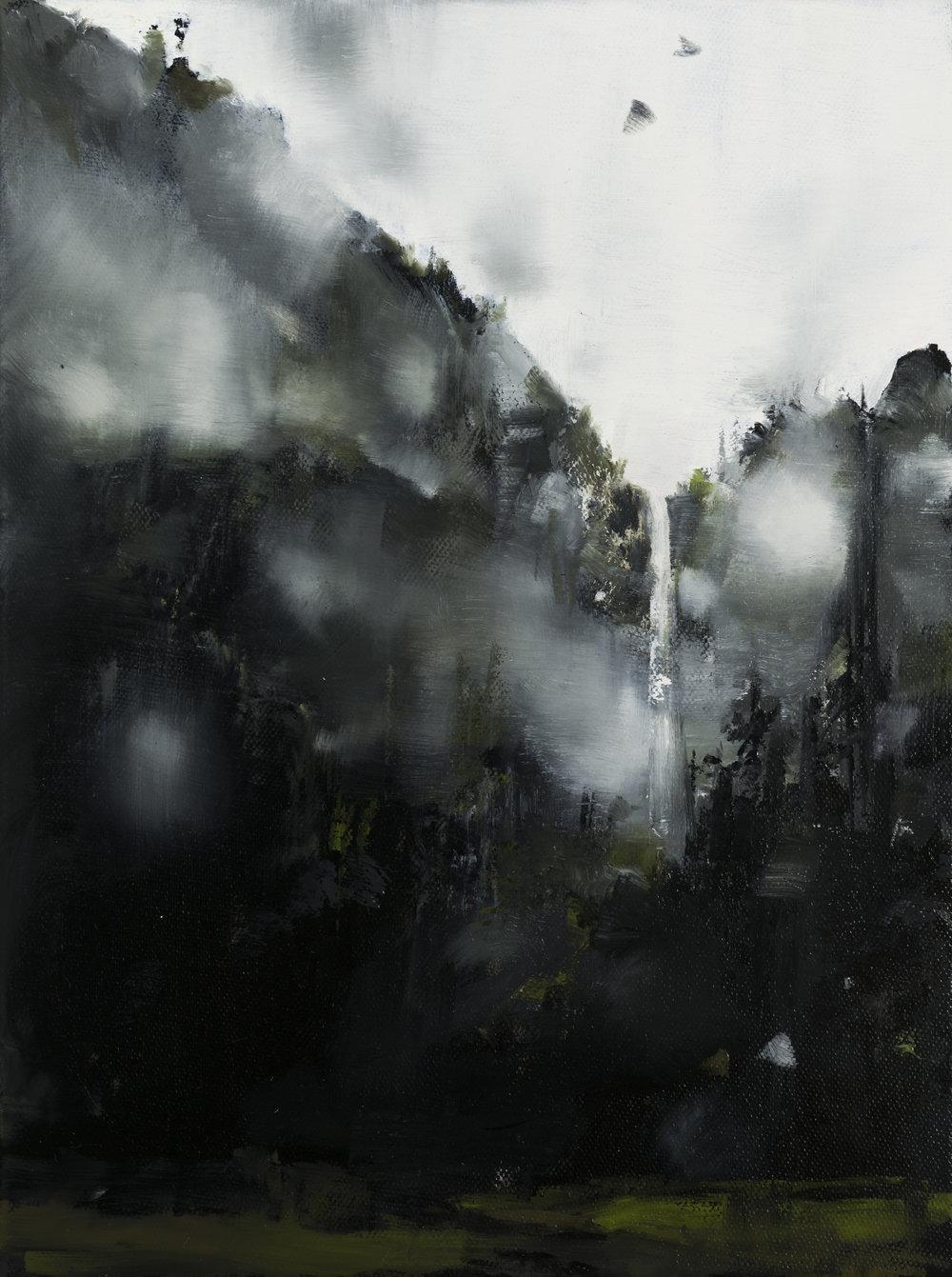 "bridalveil  •  9"" x 12""  oil on canvas  2016"