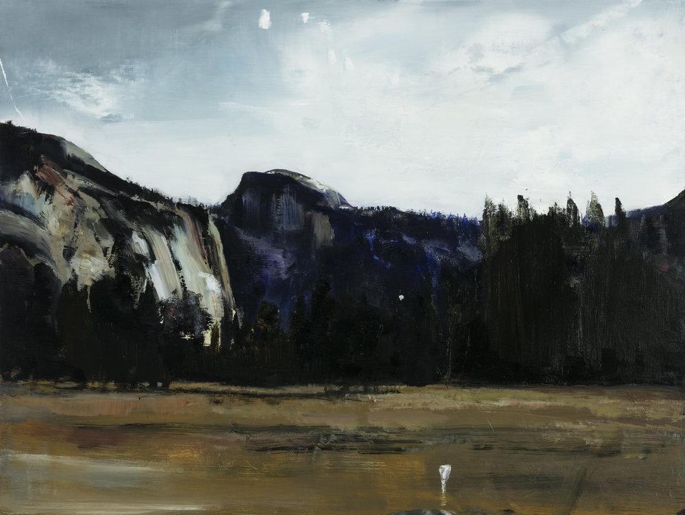 "yosemite valley   18"" x 24""  oil on panel  2016"