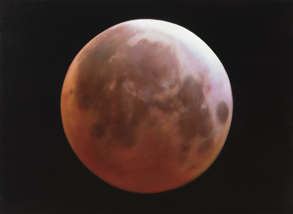 "blood moon   22"" x 30""  oil on canvas  2016"