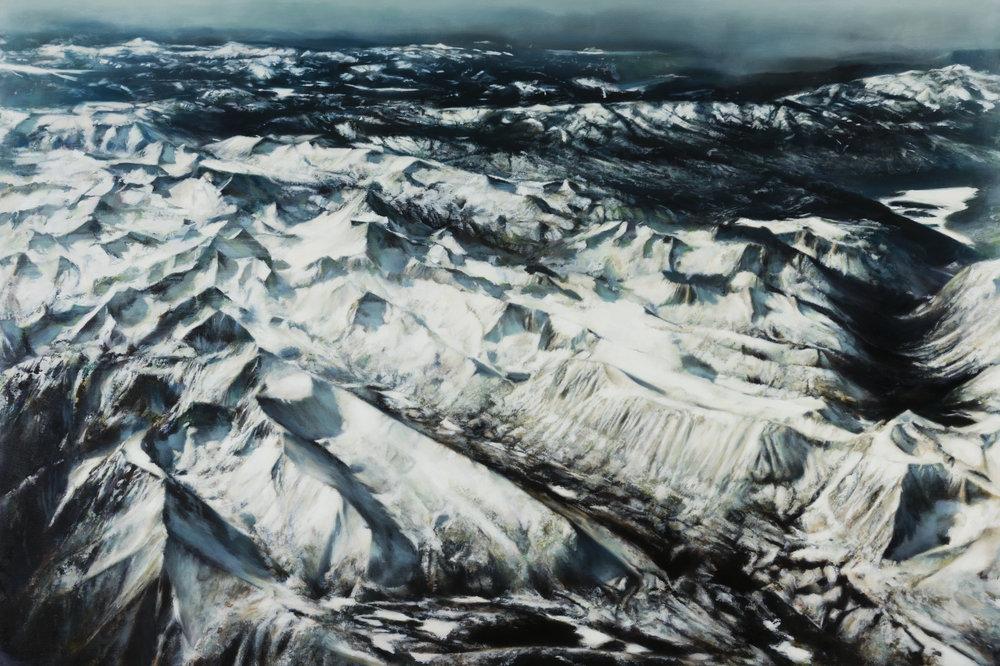 "sierras   40"" x 60""  oil on canvas  2016"