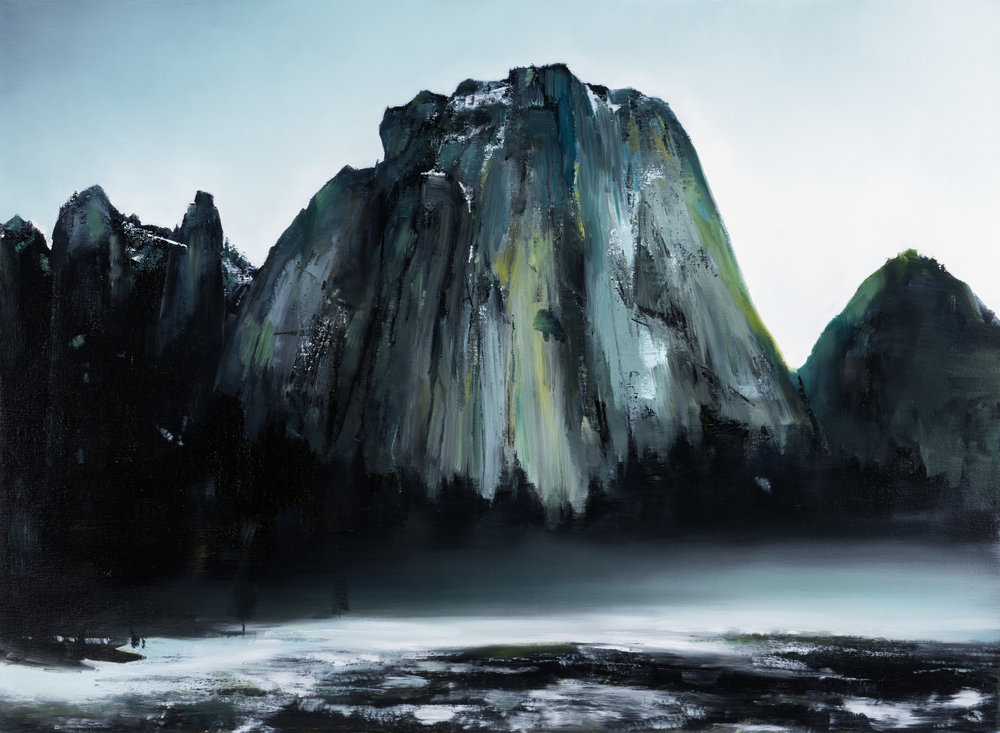 "cathedral rocks   22"" x 30""  oil on canvas  2017"
