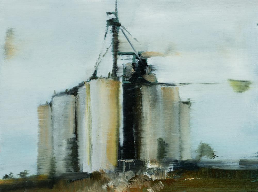 "cv silo   6"" x 8""  oil on panel  2017"