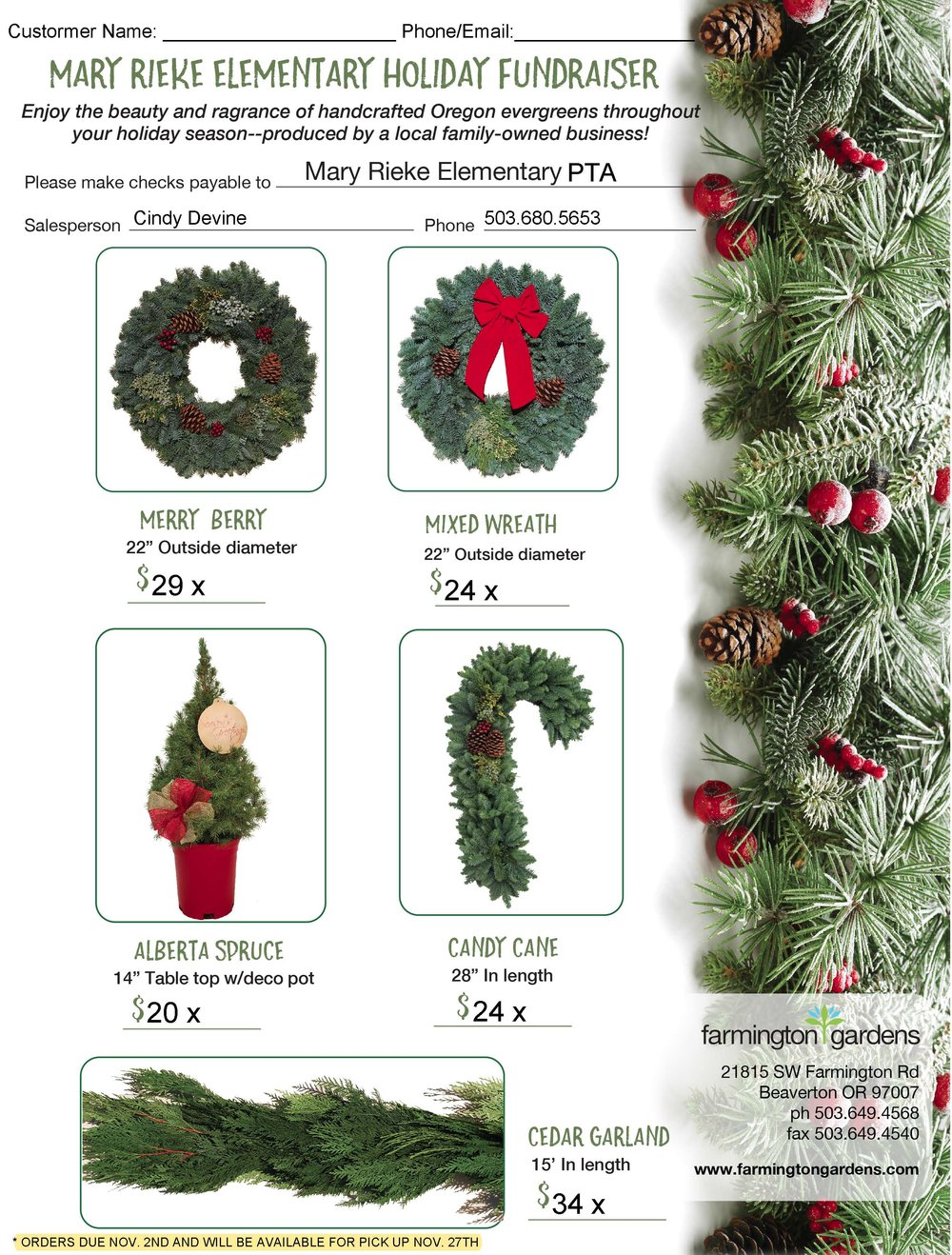 second annual holiday wreath fundraiser