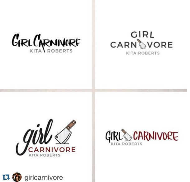 Client: Girl Carnivore - All samples have various hand lettering styles except the top right.