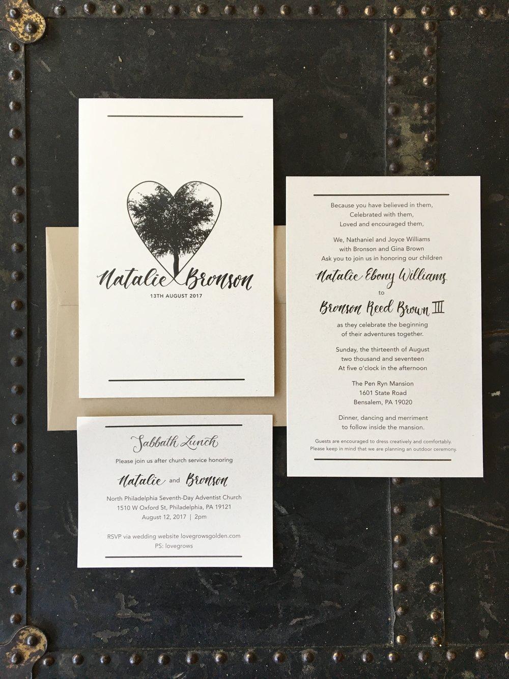 Wedding Invitation Suites — Chelsea Foster