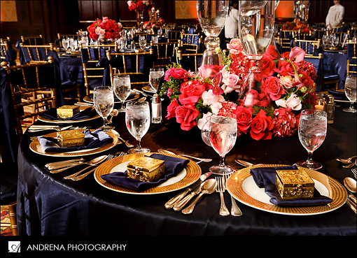 Color inspiration navy coral instyle events wedding for Table coral sample