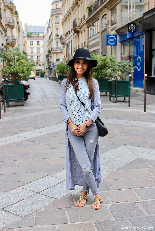 Parisian Casual Look Grey  White