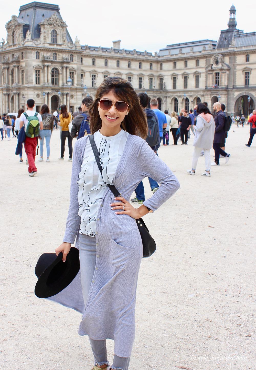 Parisian Casual Look Grey & White