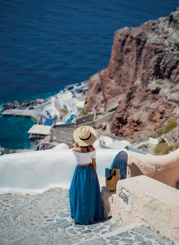 Steps down to Amoudi Bay