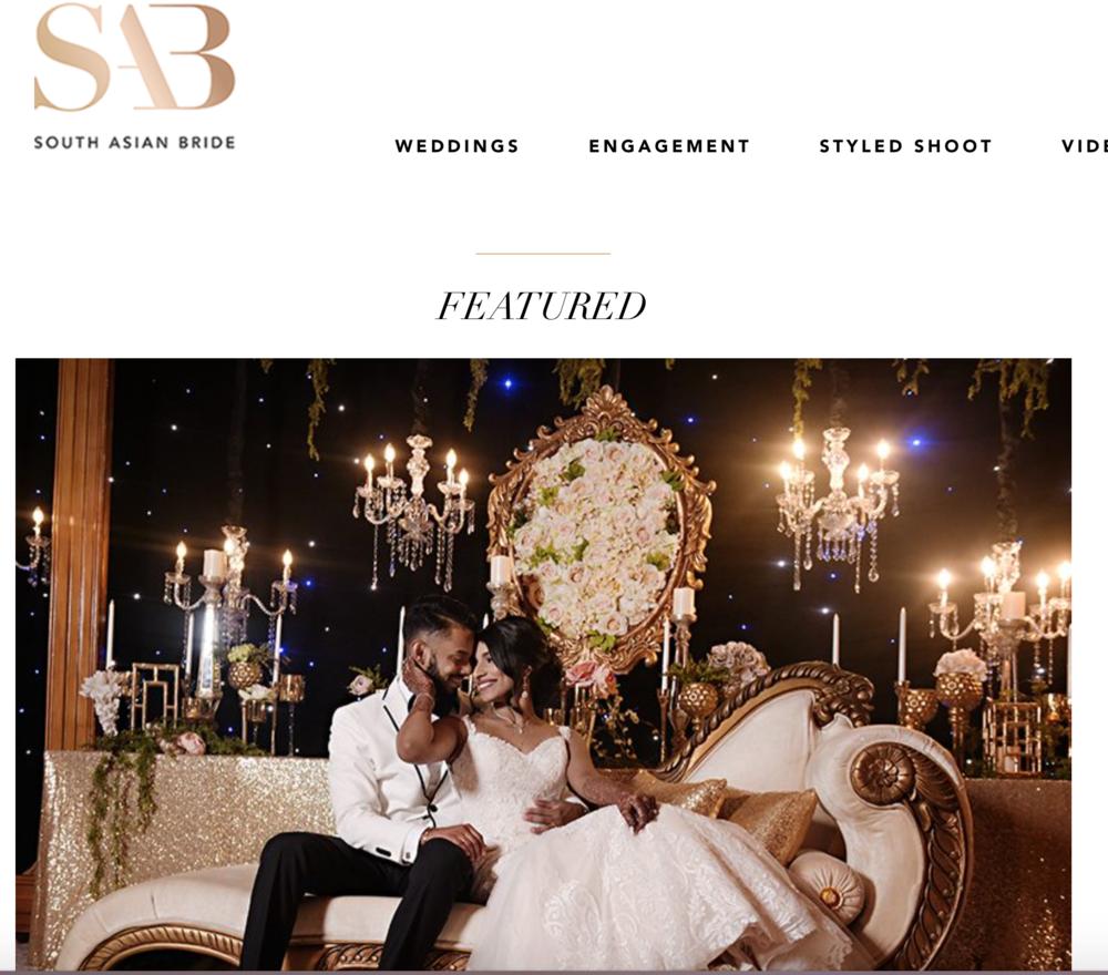 Nicko & Jenny's Wedding Featured in SAB Magazine