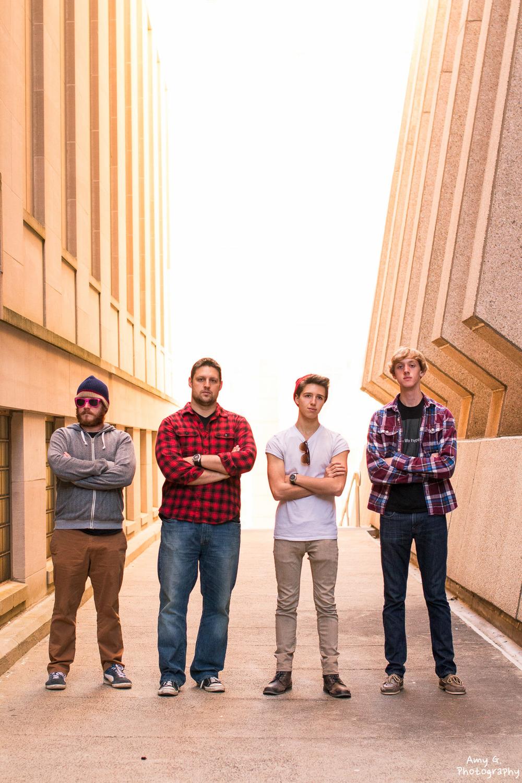 The Life Hyperbolic band photoshoot