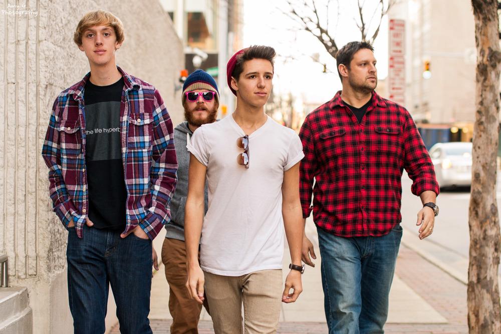 The Life Hyperbolic group band photoshoot portrait