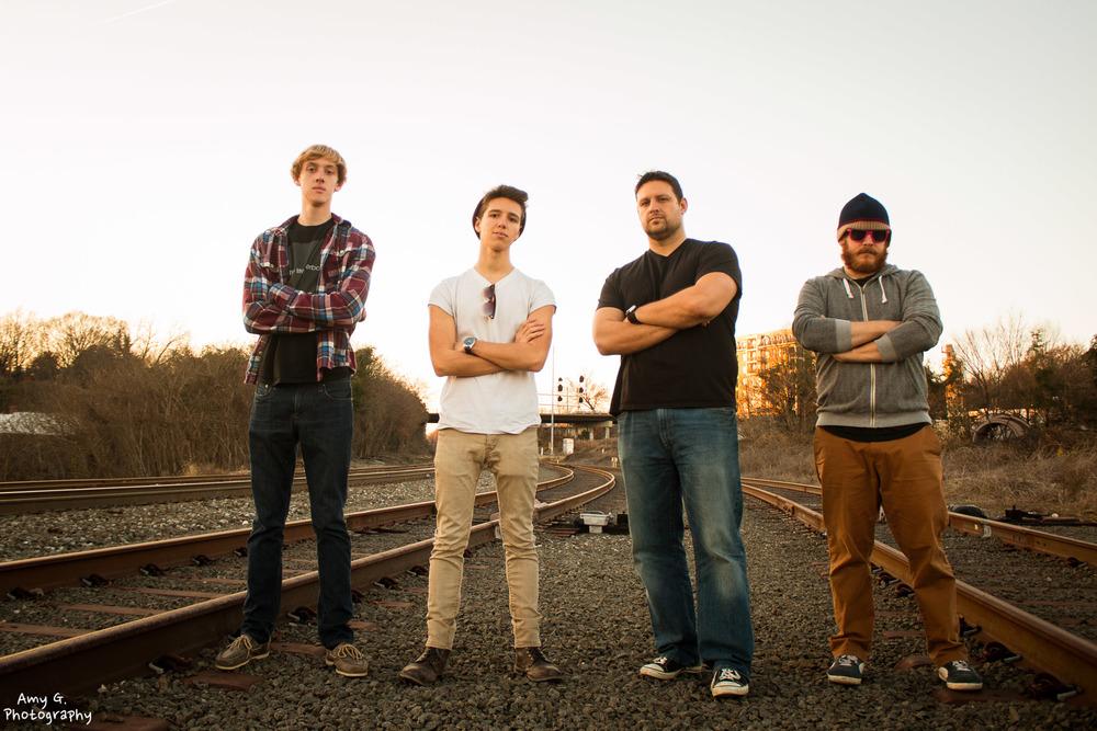 The Life Hyperbolic band group photoshoot portrait