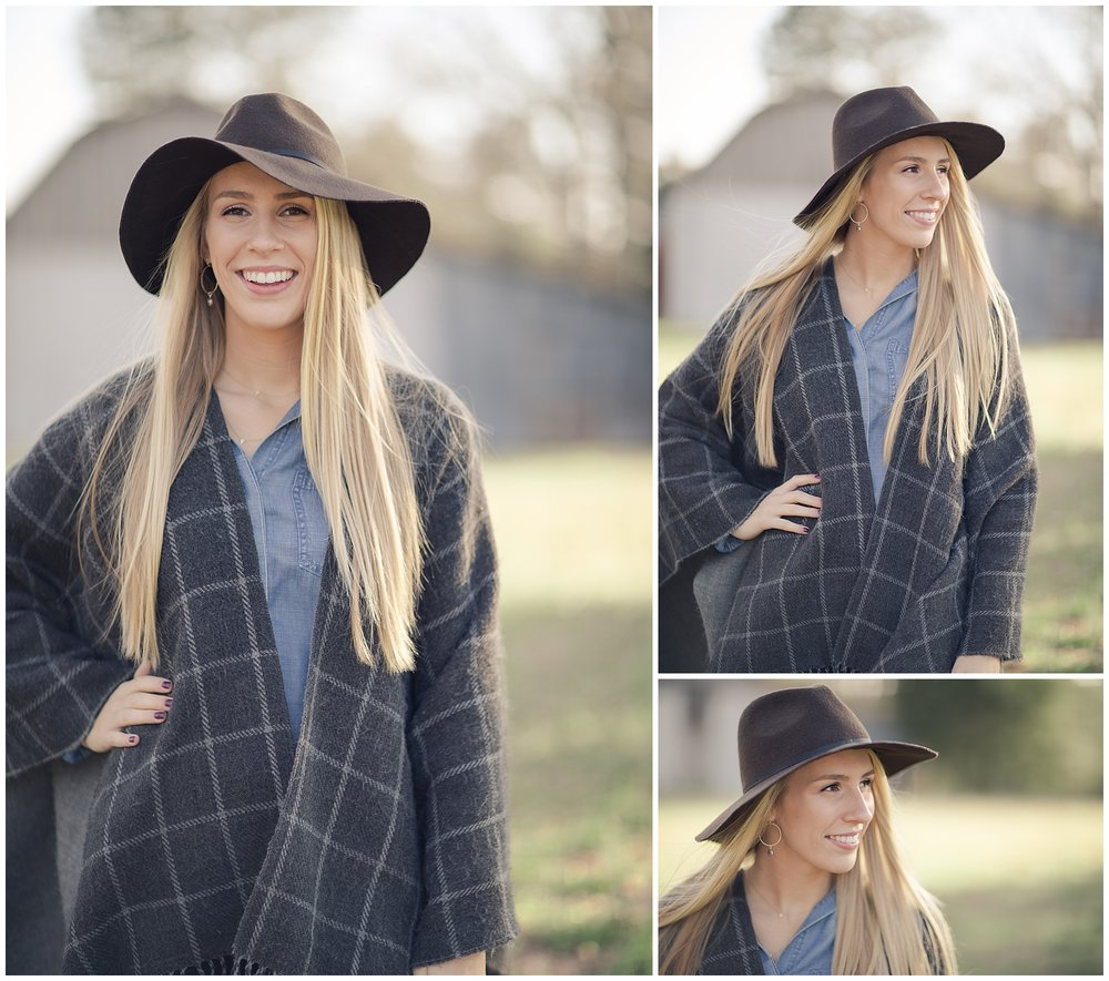 Peyton's gorgeous and sunny spring senior session in Raleigh North Carolina. Country Field Summer Sunny Fashion Hat High School Senior College Senior