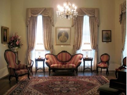 The Victorian furniture in the museum's parlor was donated by the family of Col. James Standifer.