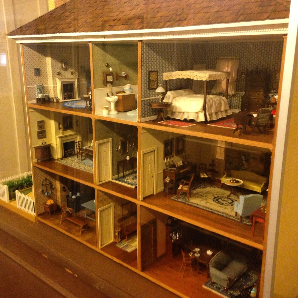 Electric lights and detailed furnishings can be found in the museum's two dollhouses.